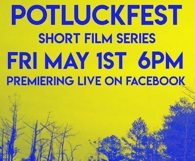 Potluckfest May 2020 poster