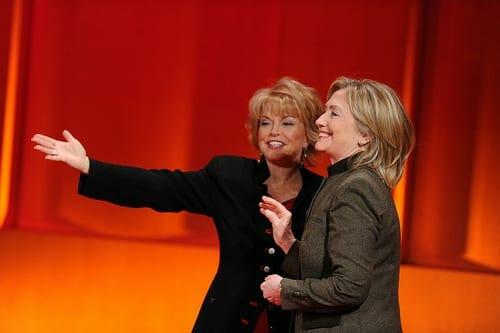 Pat Mitchell introduces Hillary Rodham Clinton