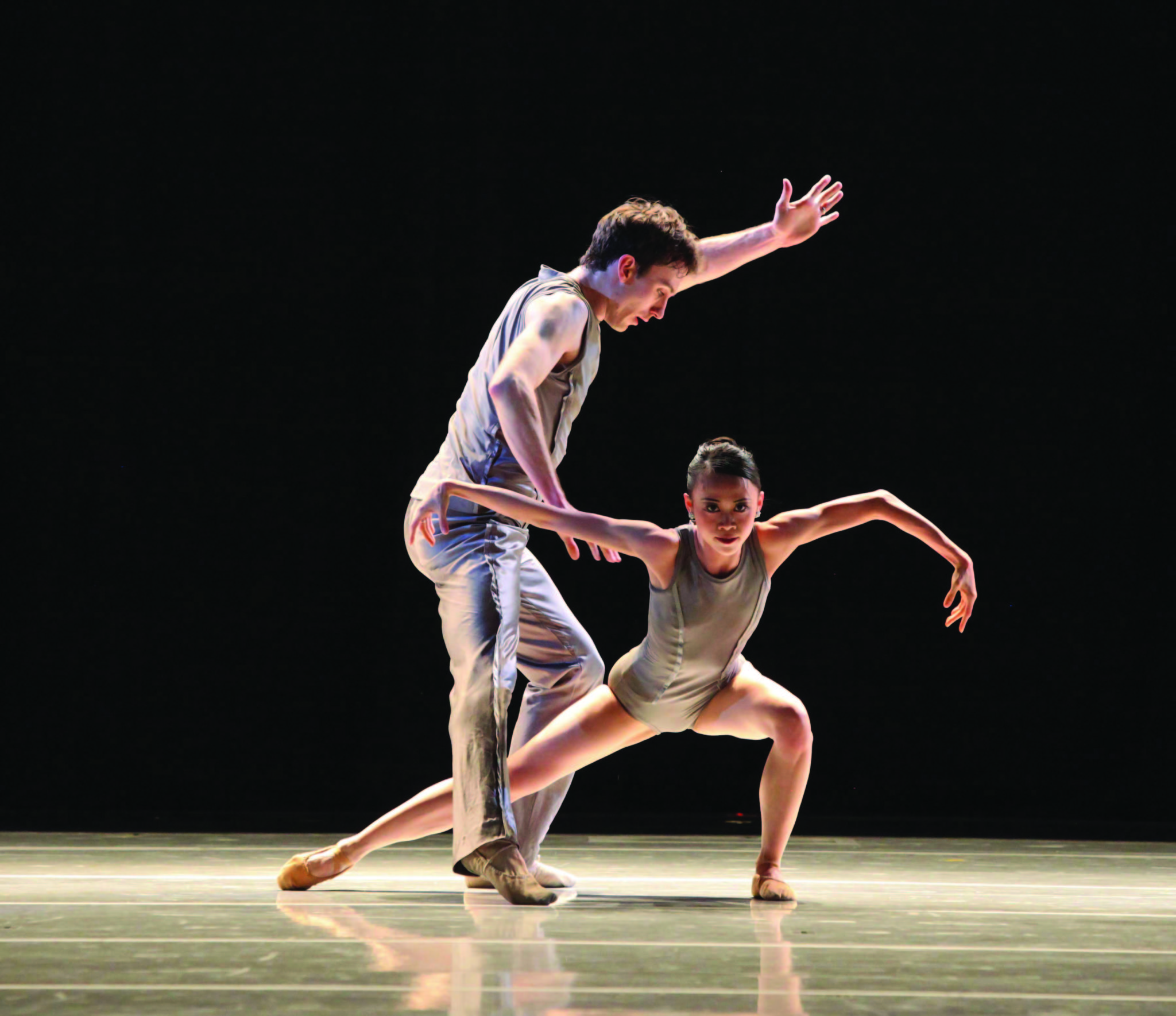 "Chen and partner Christian Clark in 2012's ""1st Flash."""