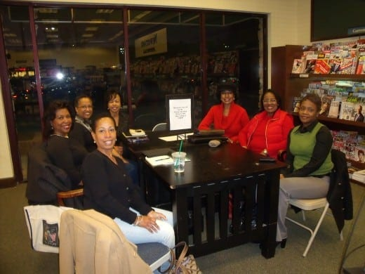 AAWA members, from left:  Deloris Davis, Lorraine Stallings, Tramell Alexander, Mary Wade, S. Claudia Lang Pitts, Marian Palmore, and Gina Durham.