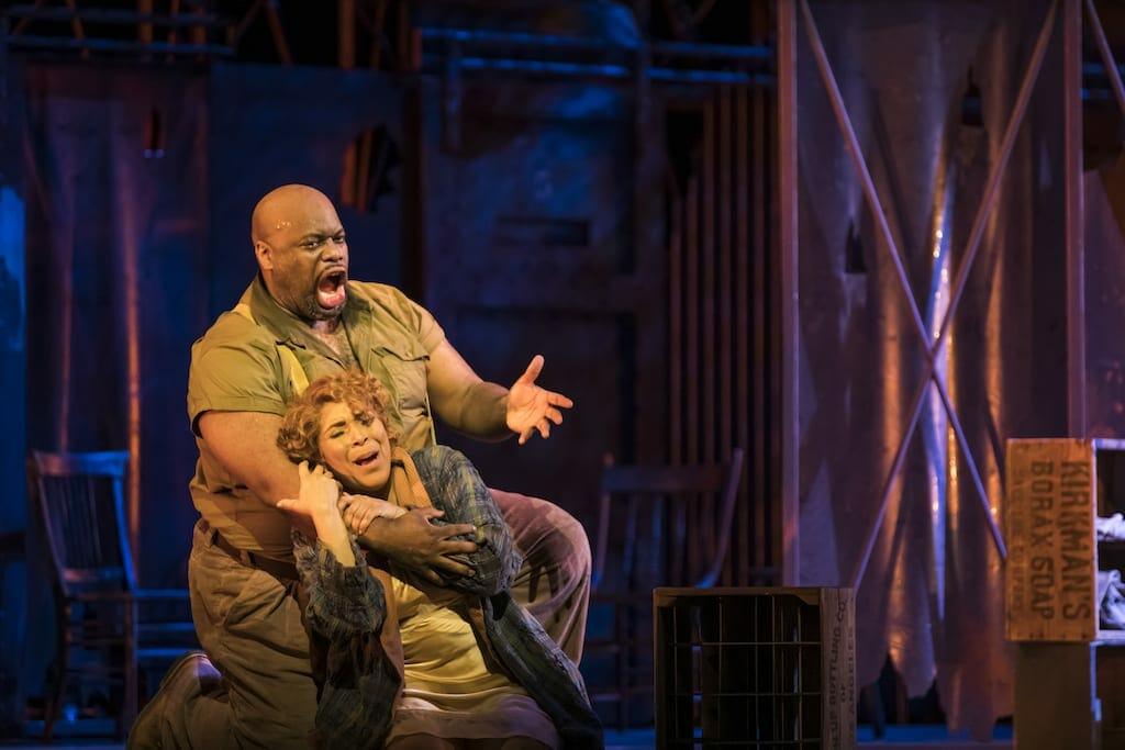 "Morris Robinson as Porgy in The Atlanta Opera version of ""Porgy and Bess."""