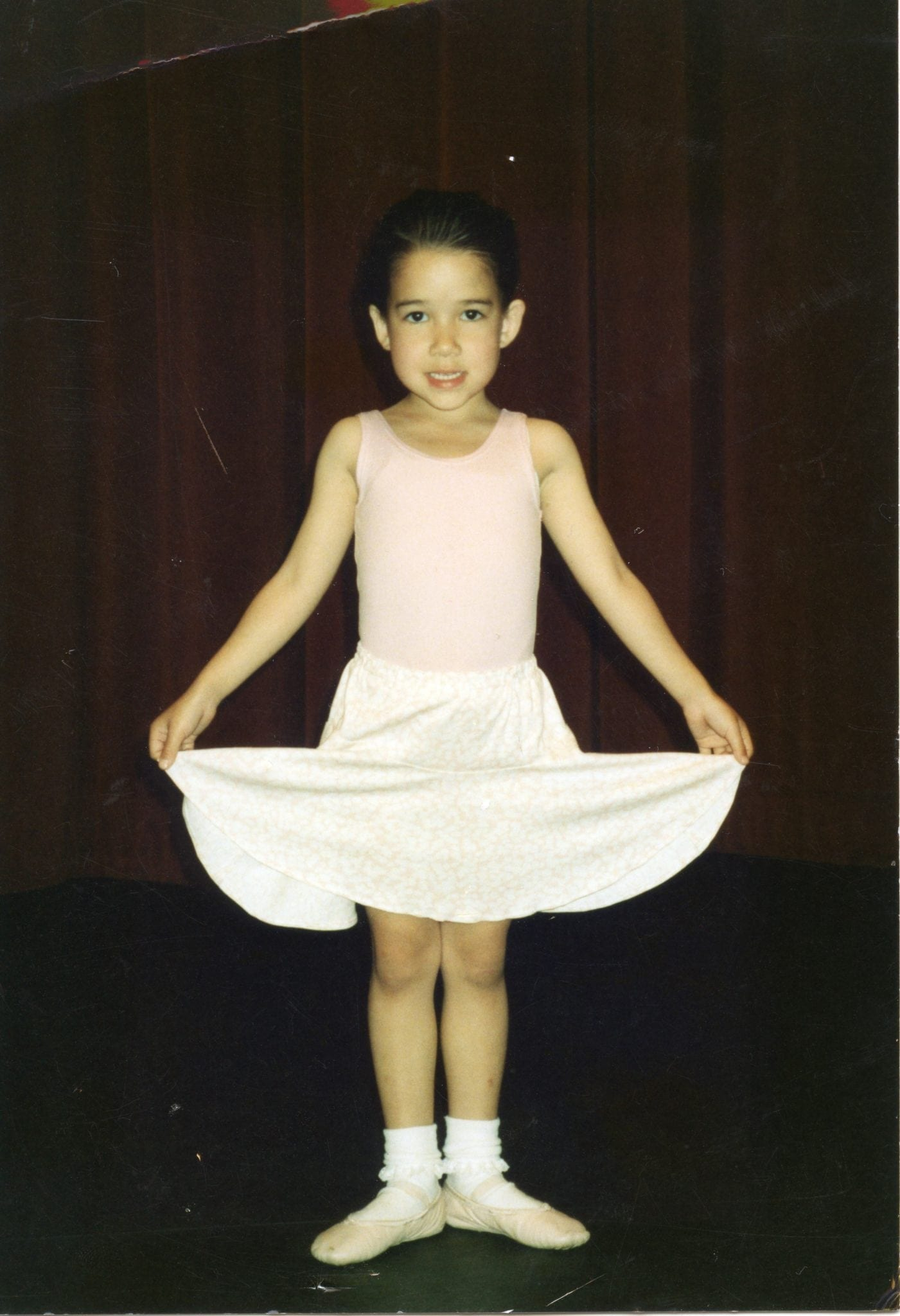Van Buskirk in her first ballet recital at age four. (Photo courtesy Rachel Van Buskirk)