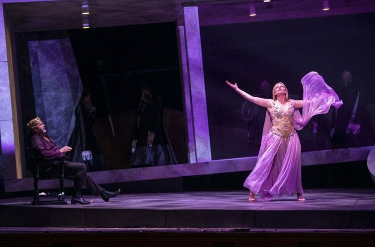 "Two performers in the Atlanta Opera's production of ""Salome."""