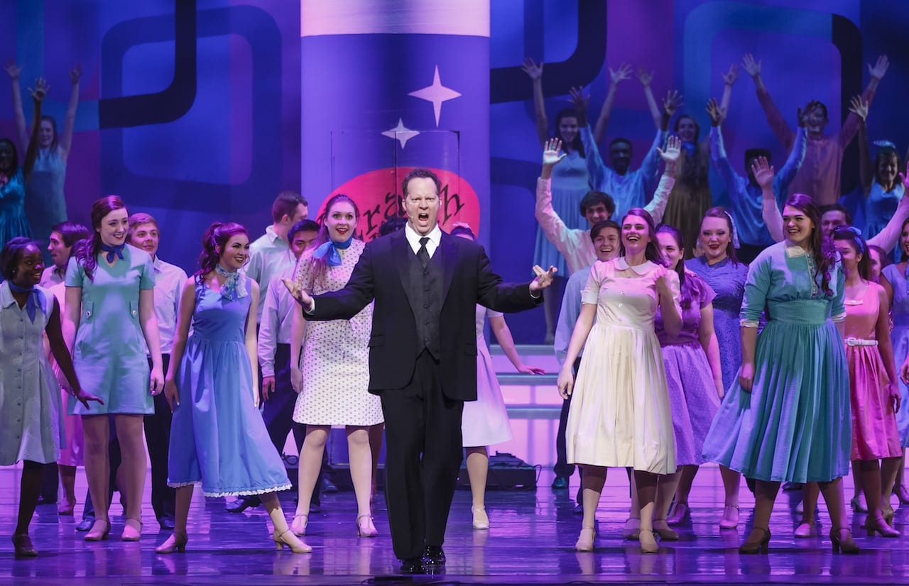 The students joined Shuler Hensley for a medley of songs from Hairspray. (Photos by Ben Rose/BenRosePhotography.com)