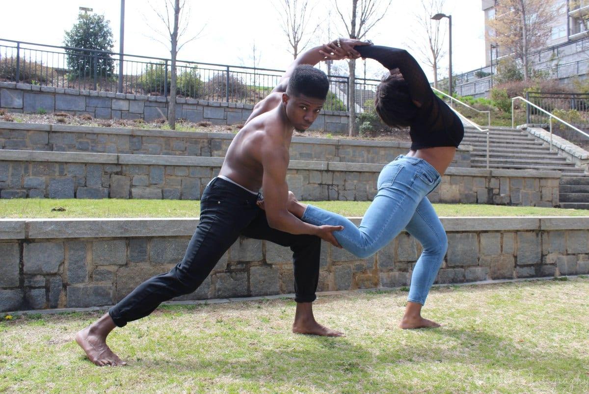 Komansé Dance Theatre performs outdoors.