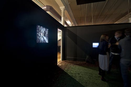 """Utopophilia"" installation at ""BoomCity,"" Stephanie Dowda"