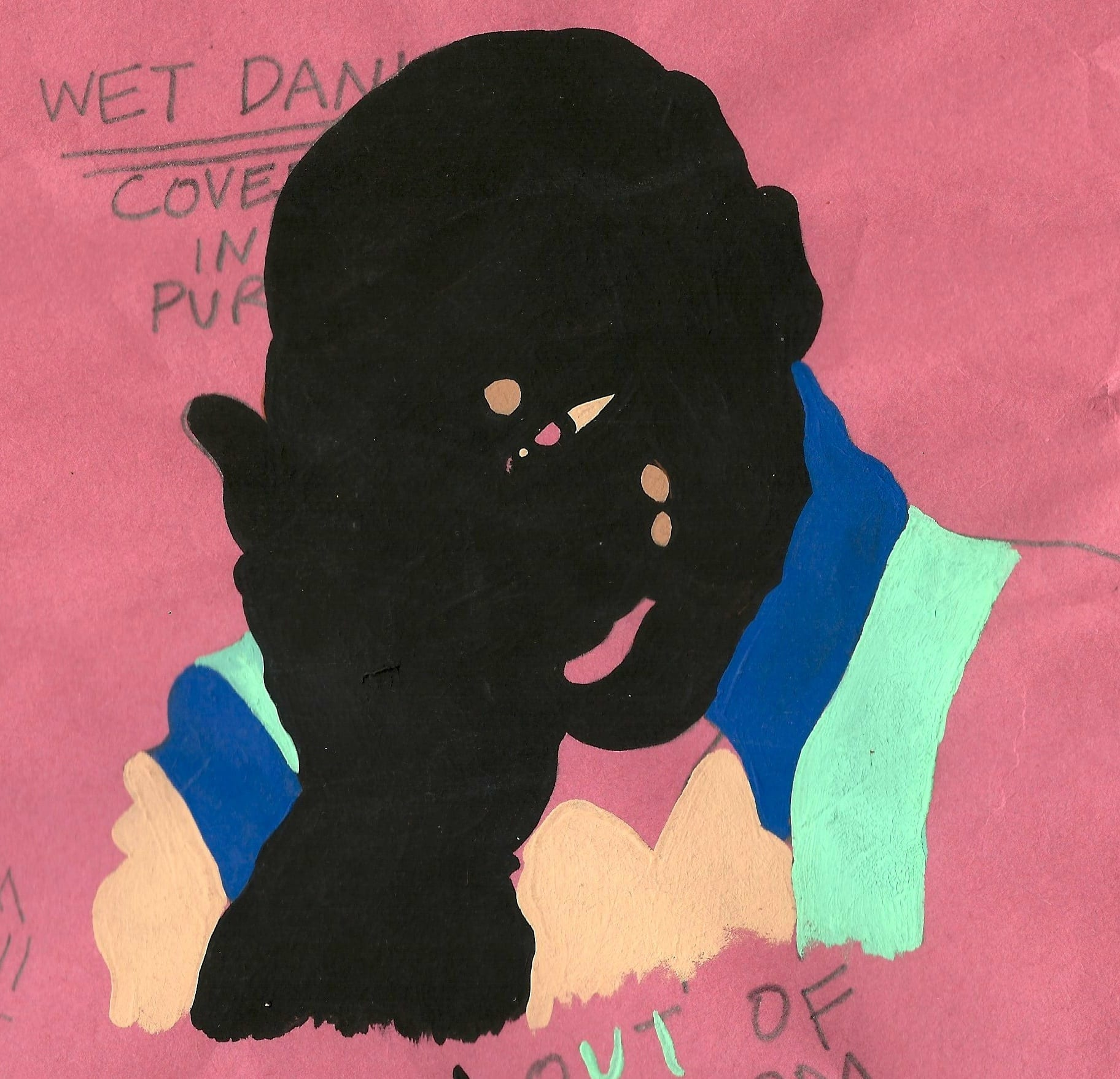 """""""Wet dank covered in purp 2015,"""" 2015. Collage. Image courtesy Harsh Riddims."""