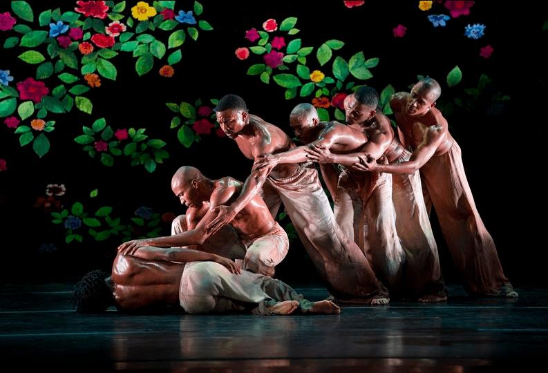 """Dancers in Alvin Ailey's """"Ode."""""""