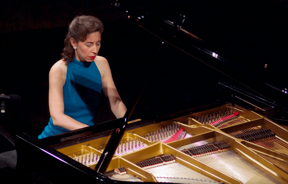 Pianist Angela Hewitt performs.