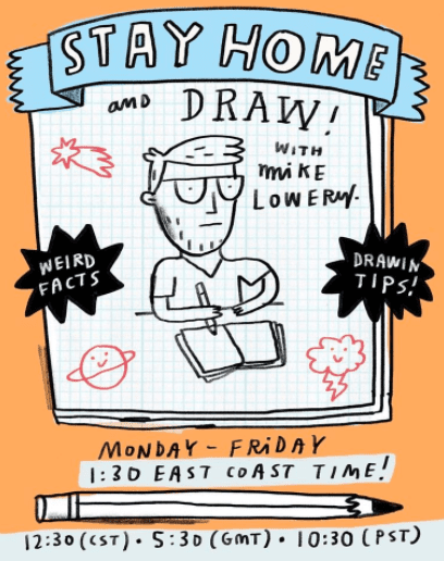 Mike Lowrey's online art classes for kids.