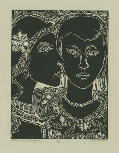 """David Driskell and """"Mother and Daughter."""""""