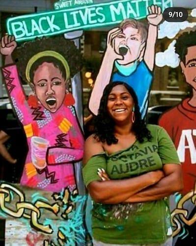 Ashley Dopson BLM mural Sweet Auburn June 2020