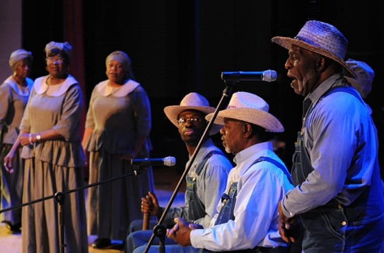 "Review: McIntosh County Shouters bring ancient, holy ""ring shout"