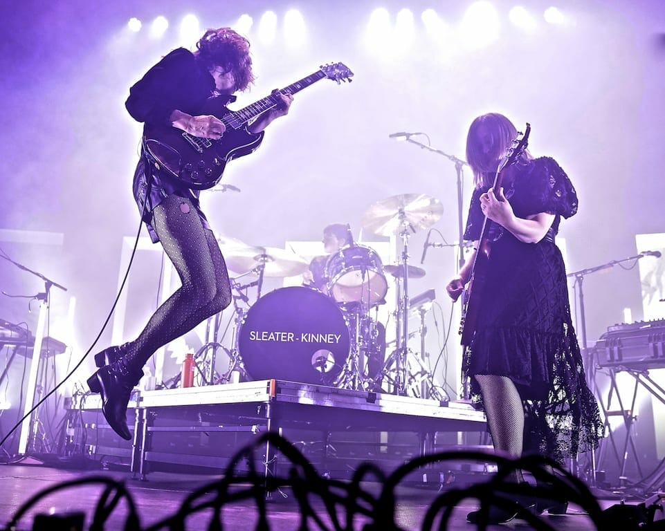 Sleater Kinney perform at the Tabernacle in Atlanta.