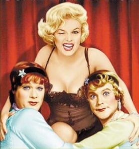 """Tony Curtis, Marilyn Monroe and Jack Lemmon in """"Some Like It Hot."""""""