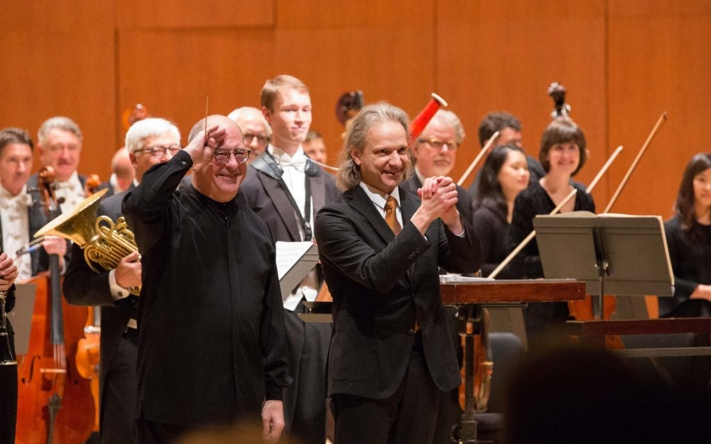Spano and Gandolfi take a bow after a very personal work.