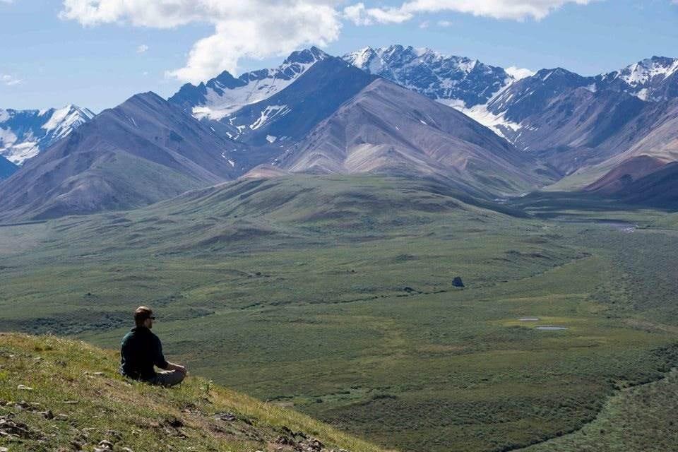 Stephen Wood in Denali at the Alaska Range.