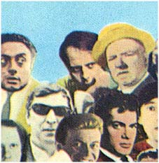 Stockhausen (to the left of W.C. Fields) as immortalized on the cover of Sgt. Pepper's Lonely Hearts Club Band.