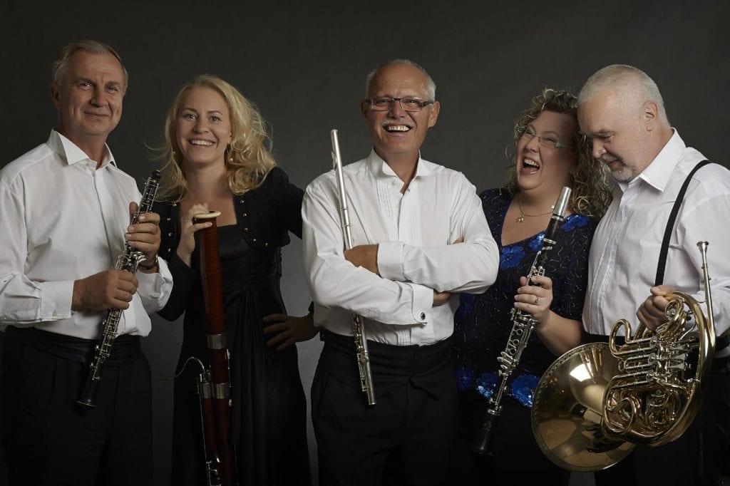 The Suchoň Quintet is on its first American tour. (Photo courtesy Slovak Sinfonietta Žilina)