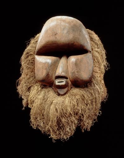 Suku Artist, Democratic Republic of the Congo: Kakuungu mask, late 19th or early 20th century; wood, fiber and pigments. Courtesy Royal Museum for Central Africa, Belgium.