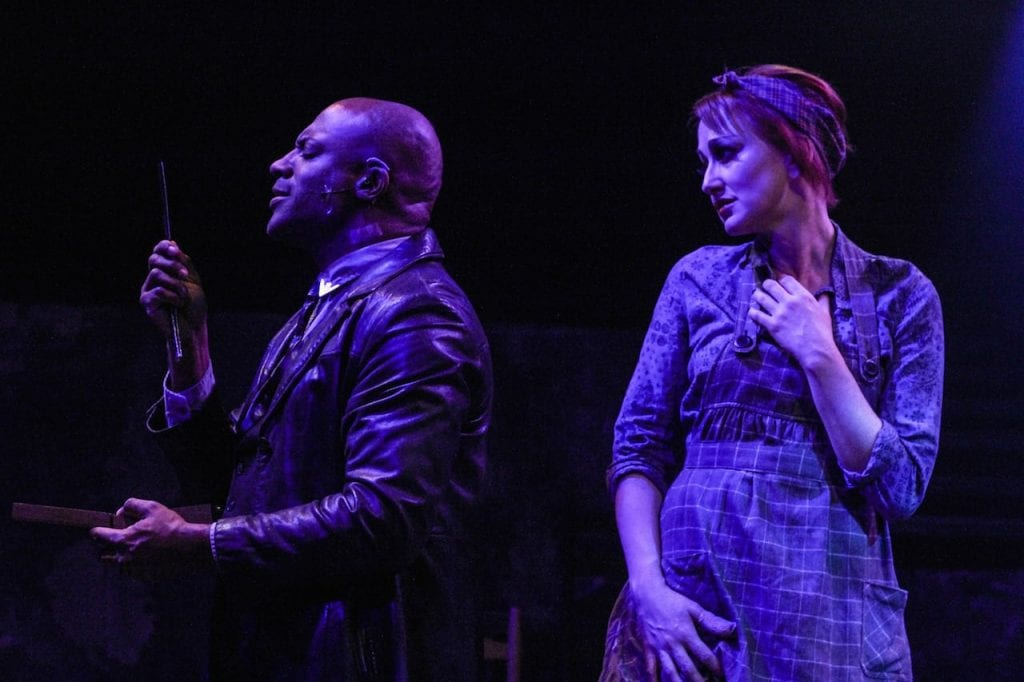 Kevin Harry and Deborah Bowman in Sweeney Todd. (Photos by BreeAnne Clowdus)