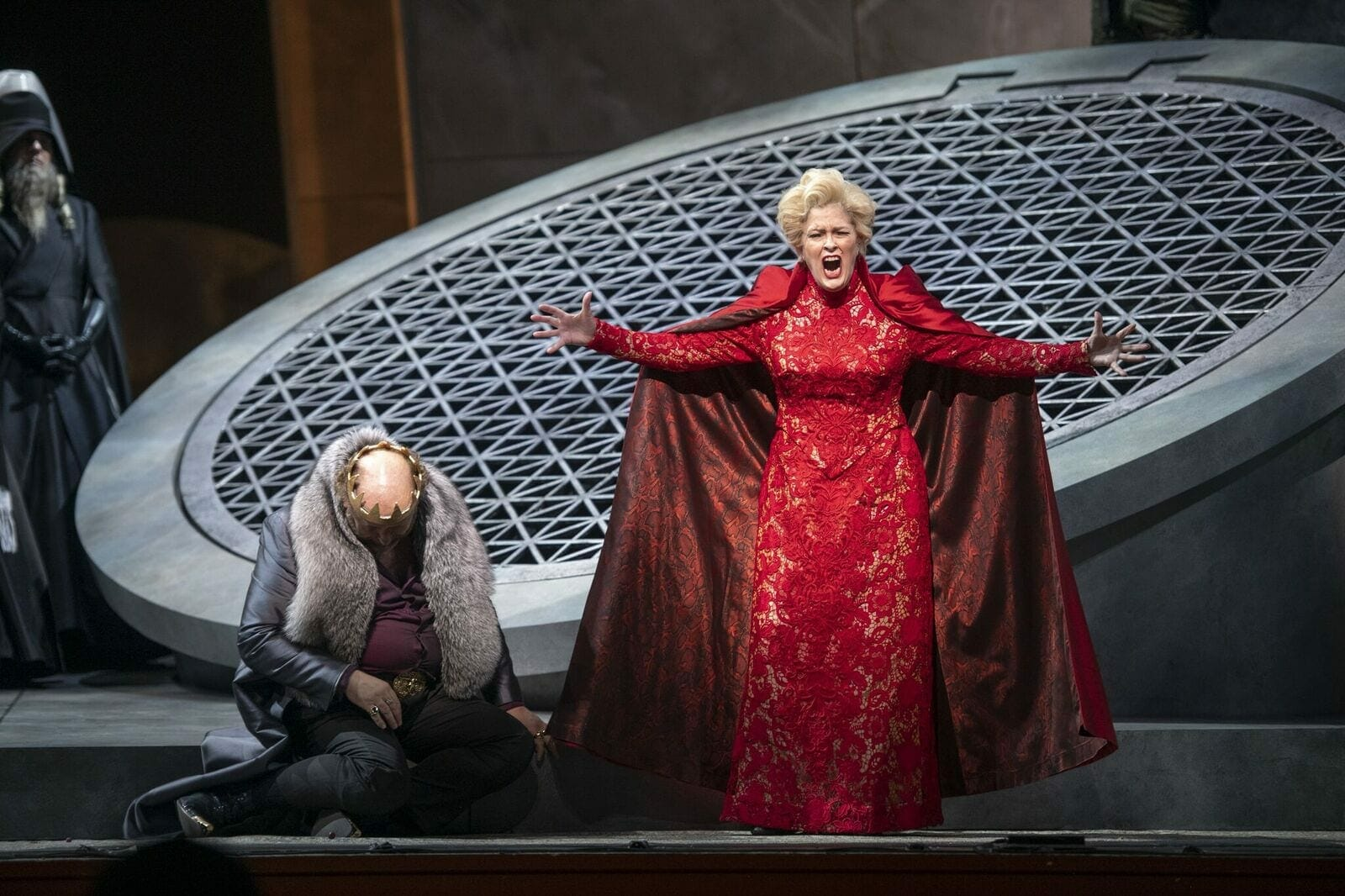 "Singer Jennifer Larmore on stage with The Atlanta Opera for ""Salome."""