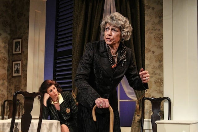 Tess Malis Kincaid (left) and Mary Lynn Owen in Theatrical Outfit's Dividing the Estate. (Photos by BreeAnne Clowdus)
