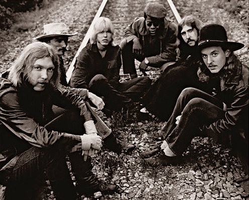 The Allman Brothers Band  in Macon in 1969.
