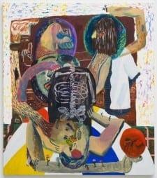 Shara Hughes, The Juggler, 2013; Oil, enamel, acrylic, spray paint on canvas, 48 x 54 inches (Photo courtesy MOCA GA)
