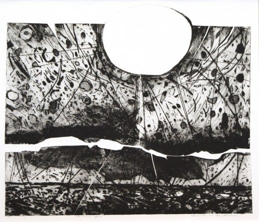 Mildred Thompson: The Second Mystery, 1989, etching, Artist's Proof Lent by Wes and Missy Cochran.