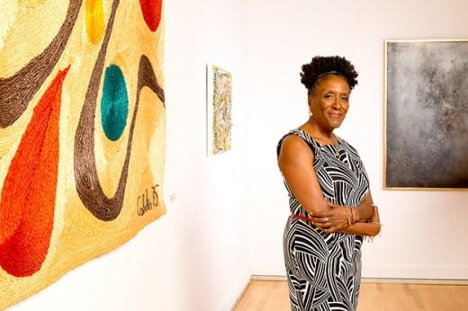 Tina Dunkley built the collection of Clark Atlanta University Galleriesfrom 291 piece to more than 1,200. Photo courtesy Clark Atlanta University.