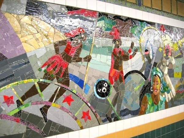 Louis Delsarte Brooklyn subway glass mosiac
