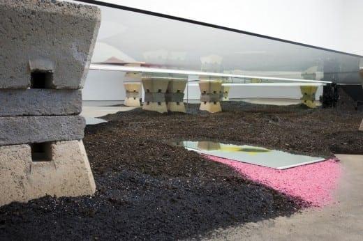 Gyun Hur installation underside.