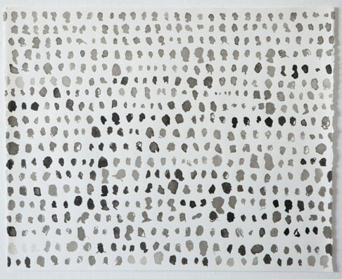 Amy Pleasant: Rows 1, Ink on paper.