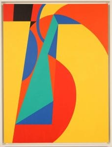 """Medford Johnston: """"Untitled"""" (For Seurat) - 1983. Acrylic on canvas 60H x 45W inches."""