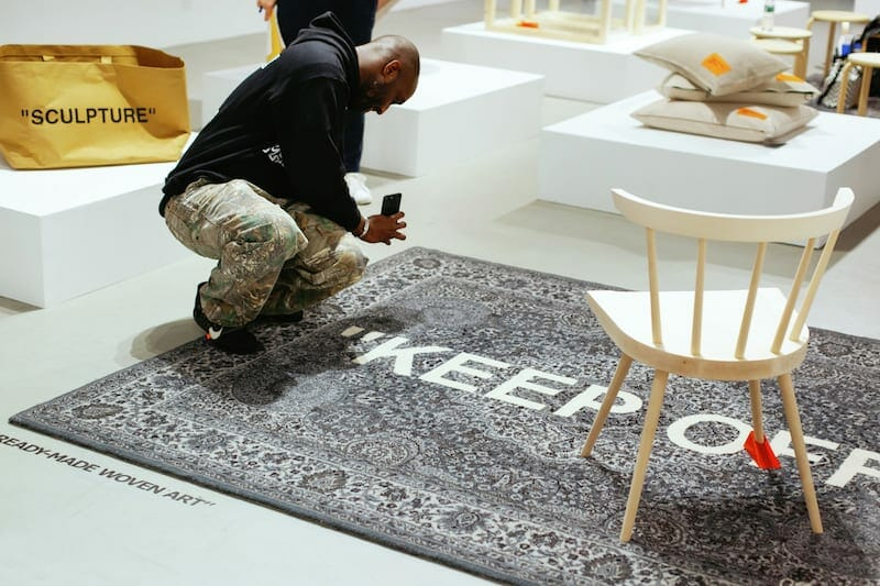 Virgil Abloh in New York with IKEA.
