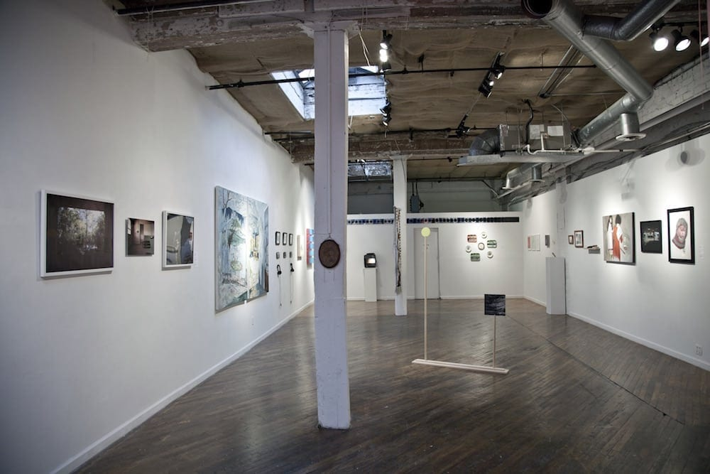 MINT's current North Highland Ave. space with its juried exhibition, Where We Are Going, Where We Have Been. Image courtesy MINT.