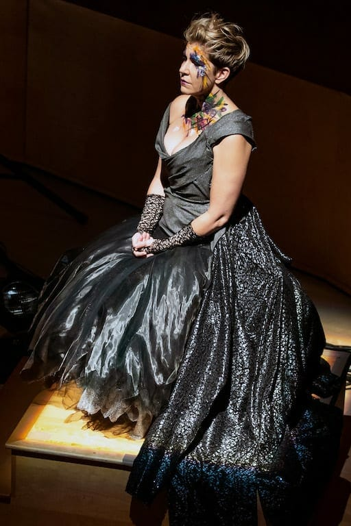 Mezza-soprano Joyce DiDonato during a poignant moment of her program at Emory's Schwartz Center.