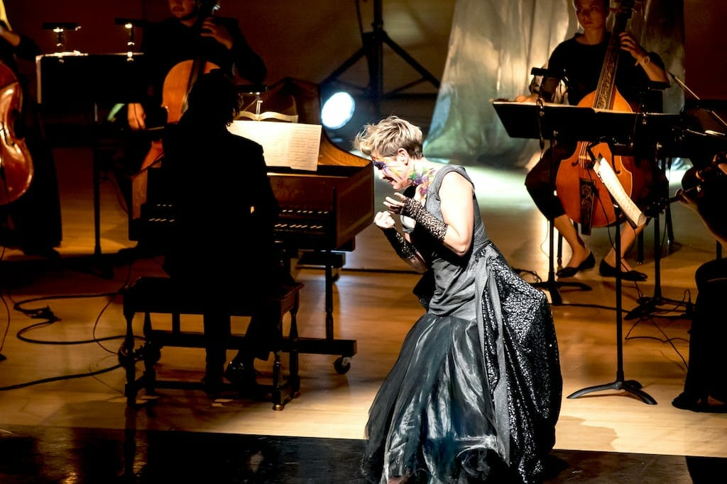 Joyce DiDonato sings on stage at Emory's Schwartz Center for Performing Arts.