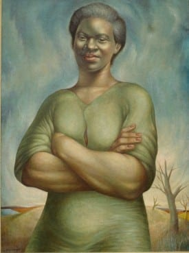 Charles White: To the Future, 1953. Collection Clark Atlanta Univeristy Galleries.