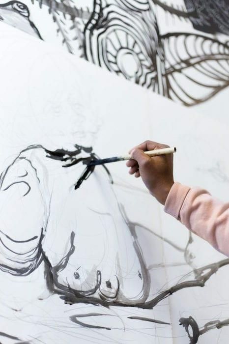 ATL artist William Downs at work.