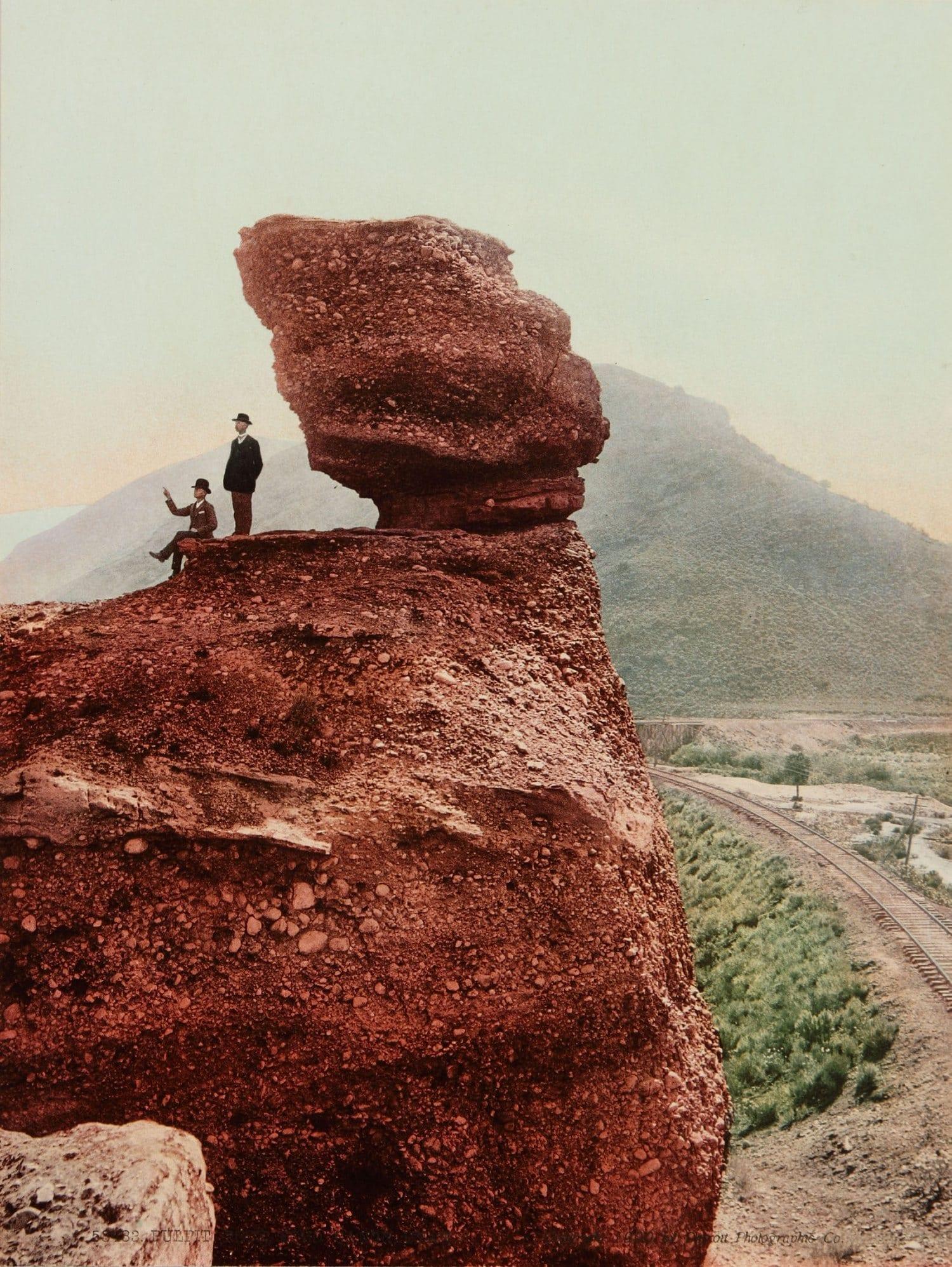"William Henry Jackson: ""Pulpit Rock, Echo Canon, Utah,"" 1900. Chromolithograph. High Museum of Art."