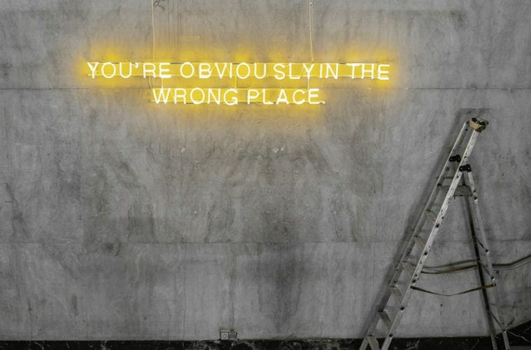 """You're Obviously in the Wrong Place"" by Virgil Abloh."