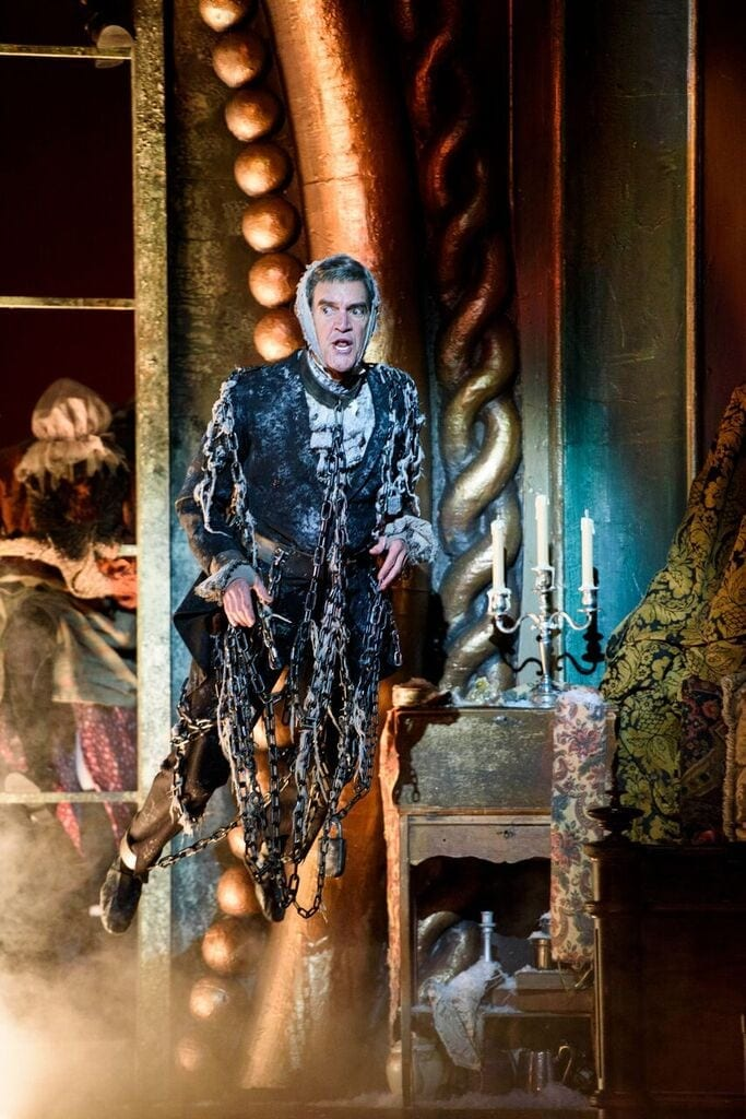 After retiring from a 16-year run as Scrooge, Chris Kayser returns as Jacob Marley.