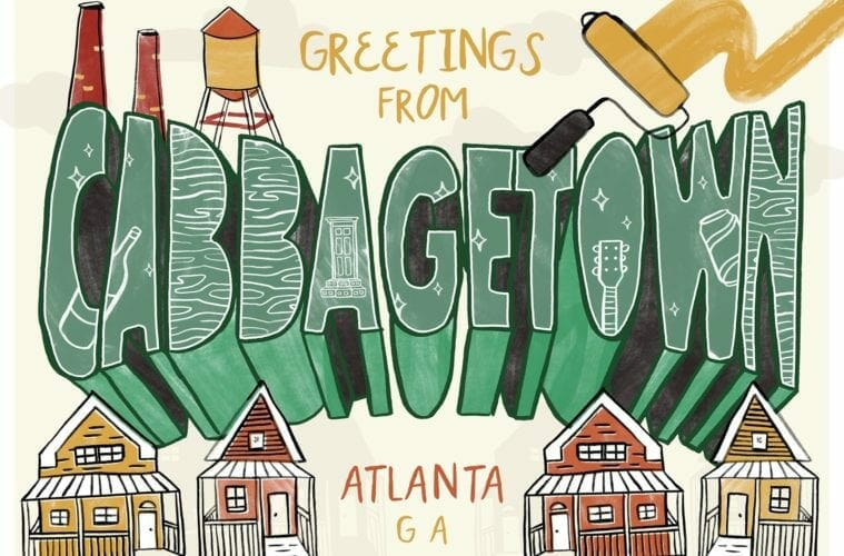 Postcard for Cabbagetown, Georgia