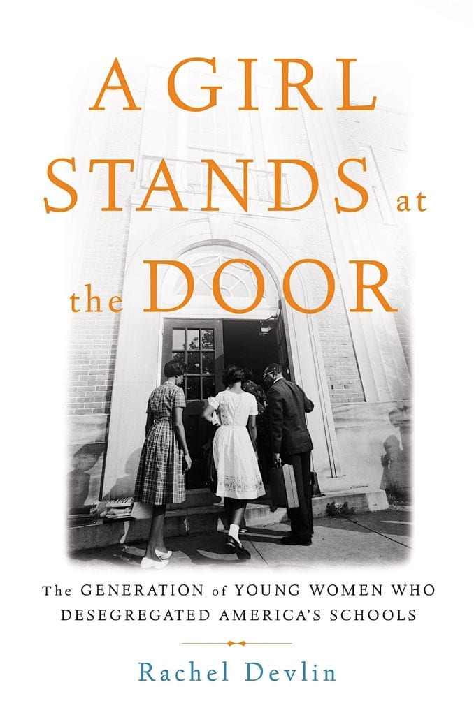 "Book cover for ""A Girl Stands at the Door"""