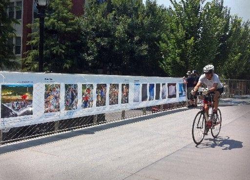 The Fence, public art on the Atlanta BeltLine courtesy of Atlanta Celebrates Photography
