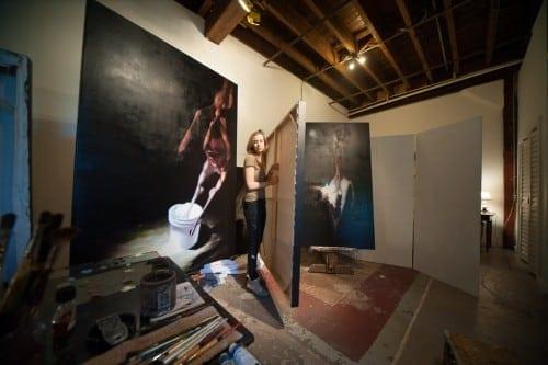 Mimi Hart Silver in her studio.