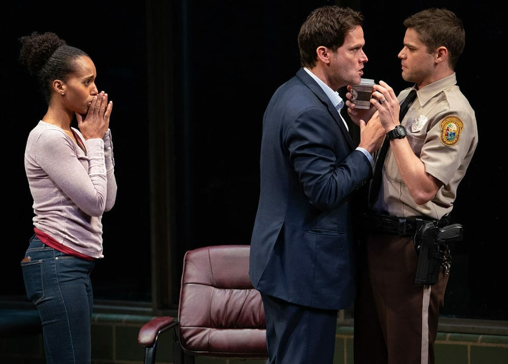 """A confrontation in a scene from Broadway's """"American Son,"""" now on Netflix."""