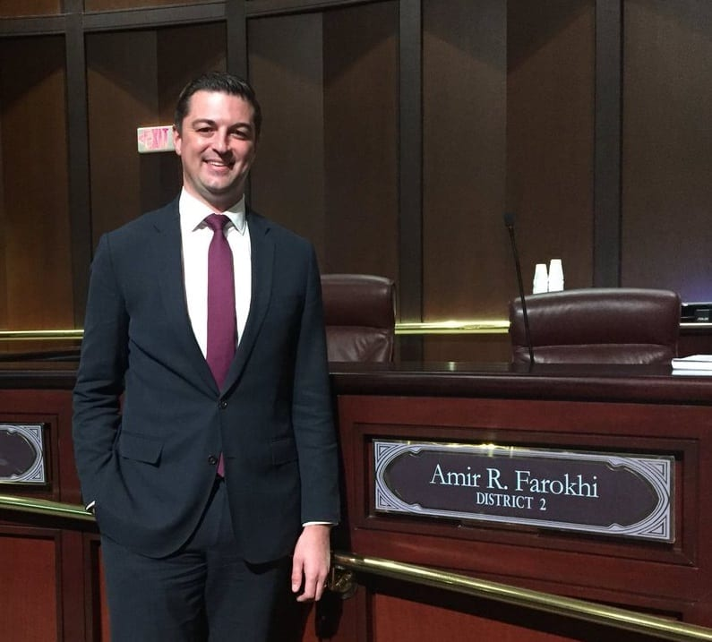 Atlanta City Councilman Amir Farokhi stands by his council seat.